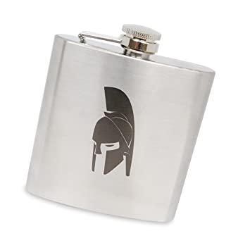 e6be1fc7 Amazon.com | MODERN GOODS SHOP Stainless Steel Flask With Spartan ...