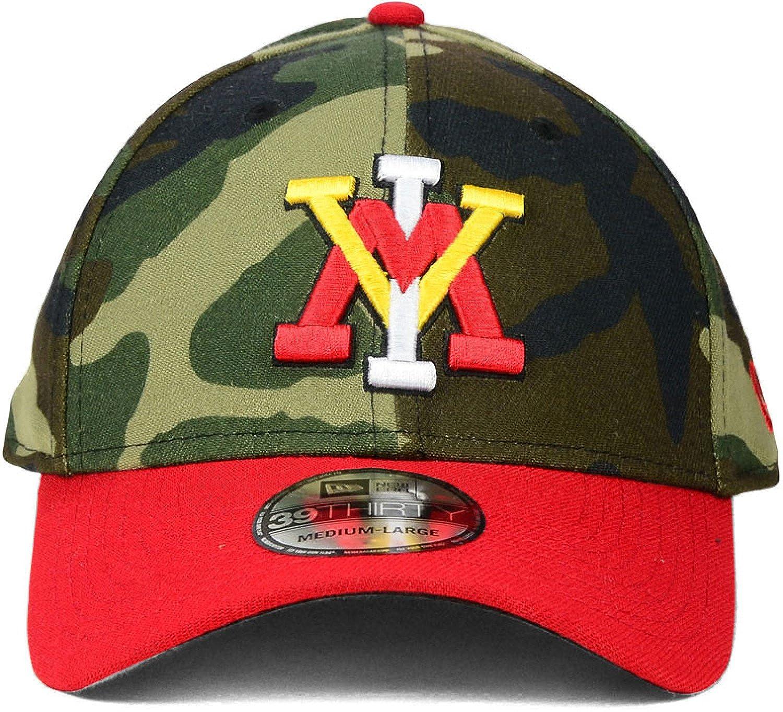c54c4360d6e ... official virginia military institute vmi keydets camo new era 3930  stretch hat cap woodland camo red