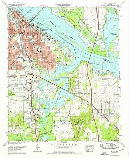 Amazon.com : YellowMaps Decatur AL topo map, 1:24000 Scale ...