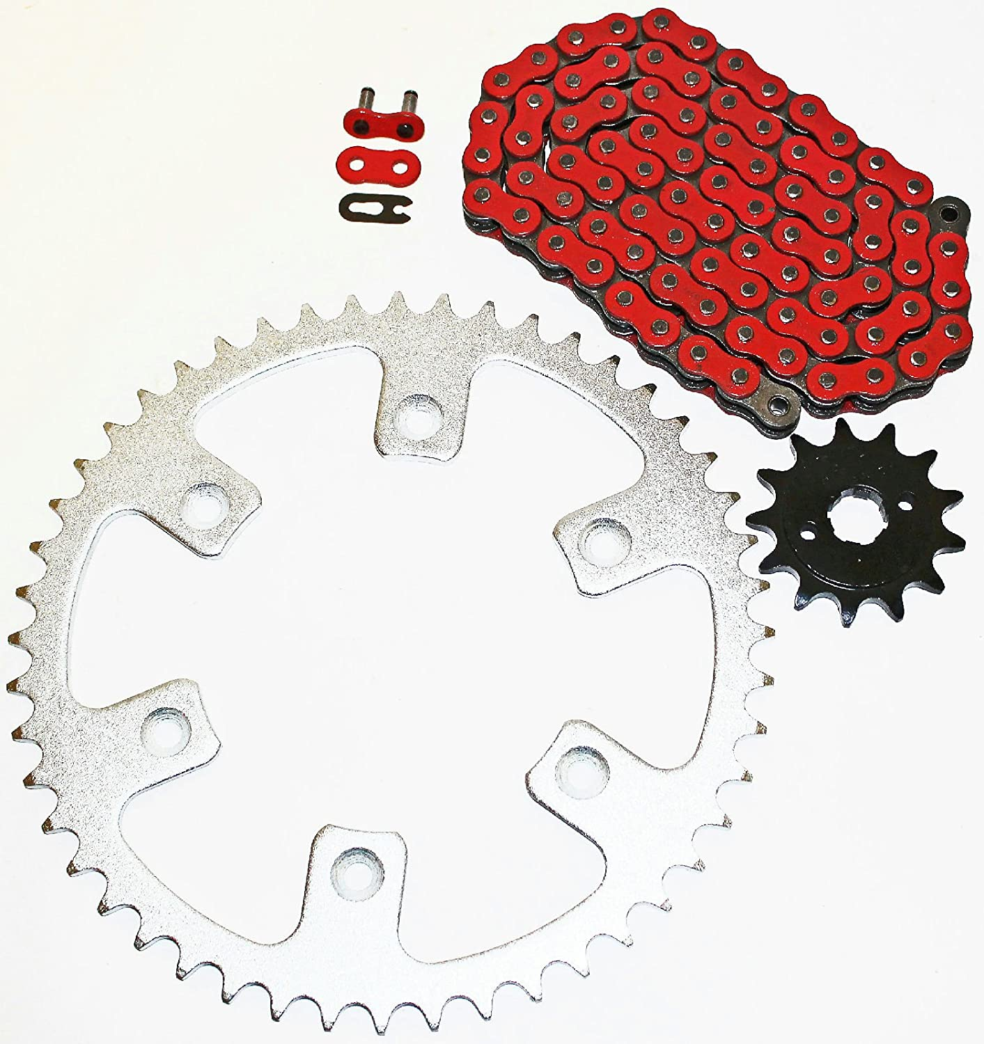 Cycle ATV Gold O Ring Chain and Sprocket 13//50 110L for a Fits Honda CRF230F 230 F