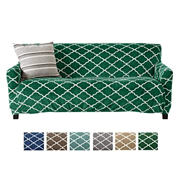 Modern Velvet Plush Sofa Slipcover. Strapless One Piece Stretch Couch  Cover. Sofa Cover for Living Room. Magnolia Collection Slipcover. (Sofa,  Emerald ...