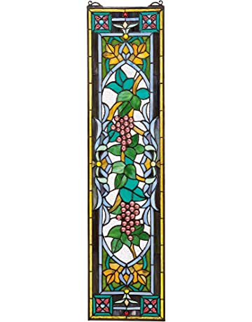 25d6c31e463c Design Toscano Tiffany Style Stained Glass Window
