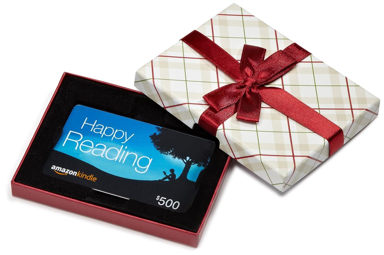 Amazon.com Gift Card in a Plaid Gift Box (Amazon Kindle Card Design) giftboxmobile