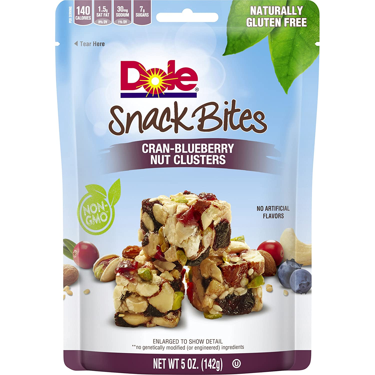 DOLE SNACK BITES Cran-Blueberry Clusters 5 Ounce