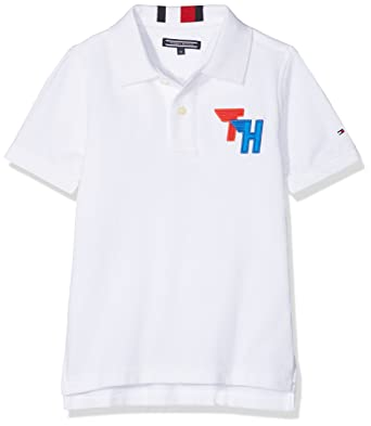 ad78ca88f Tommy Hilfiger Boy s AME Track Badge Polo S S Shirt  Amazon.co.uk ...