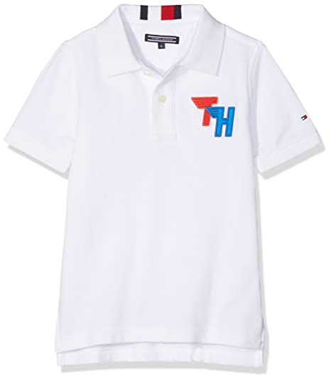 Tommy Hilfiger Ame Track Badge Polo S/s, Blanco (Bright White 123 ...