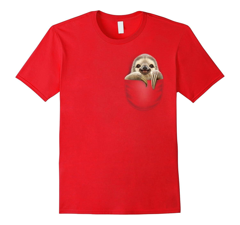 Sloth Pocket T-Shirt-TD