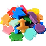 Sumind 24 Pezzi Pennelli Pittura di Forma Spugna Stampo Mestiere Pittura Spugna Bambini Spugna, Colore Assortito