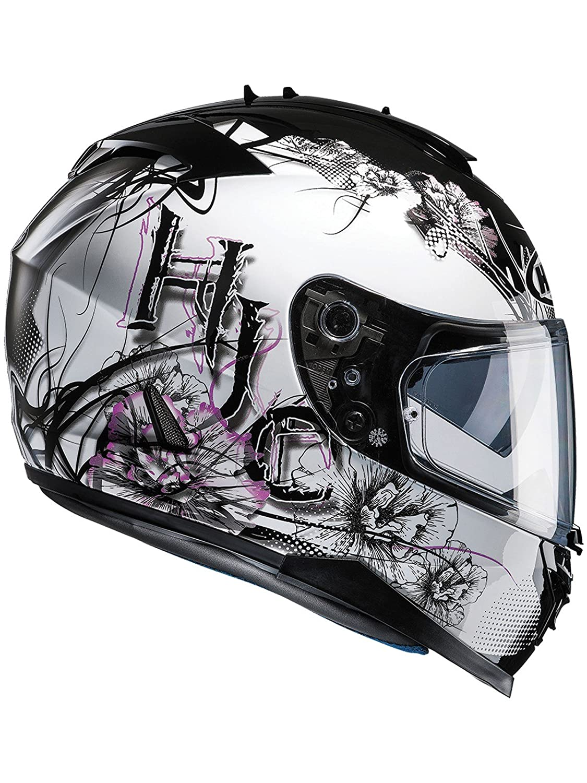 Black//White HJC Barbwire Motorcycle Helmets Size S