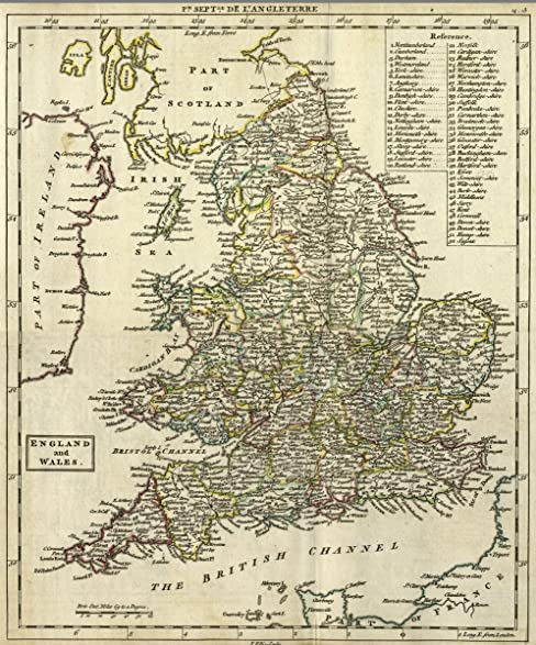 Amazon 1763 world atlas composite map england and wales 1763 world atlas composite map england and wales antique vintage map reprint gumiabroncs Choice Image