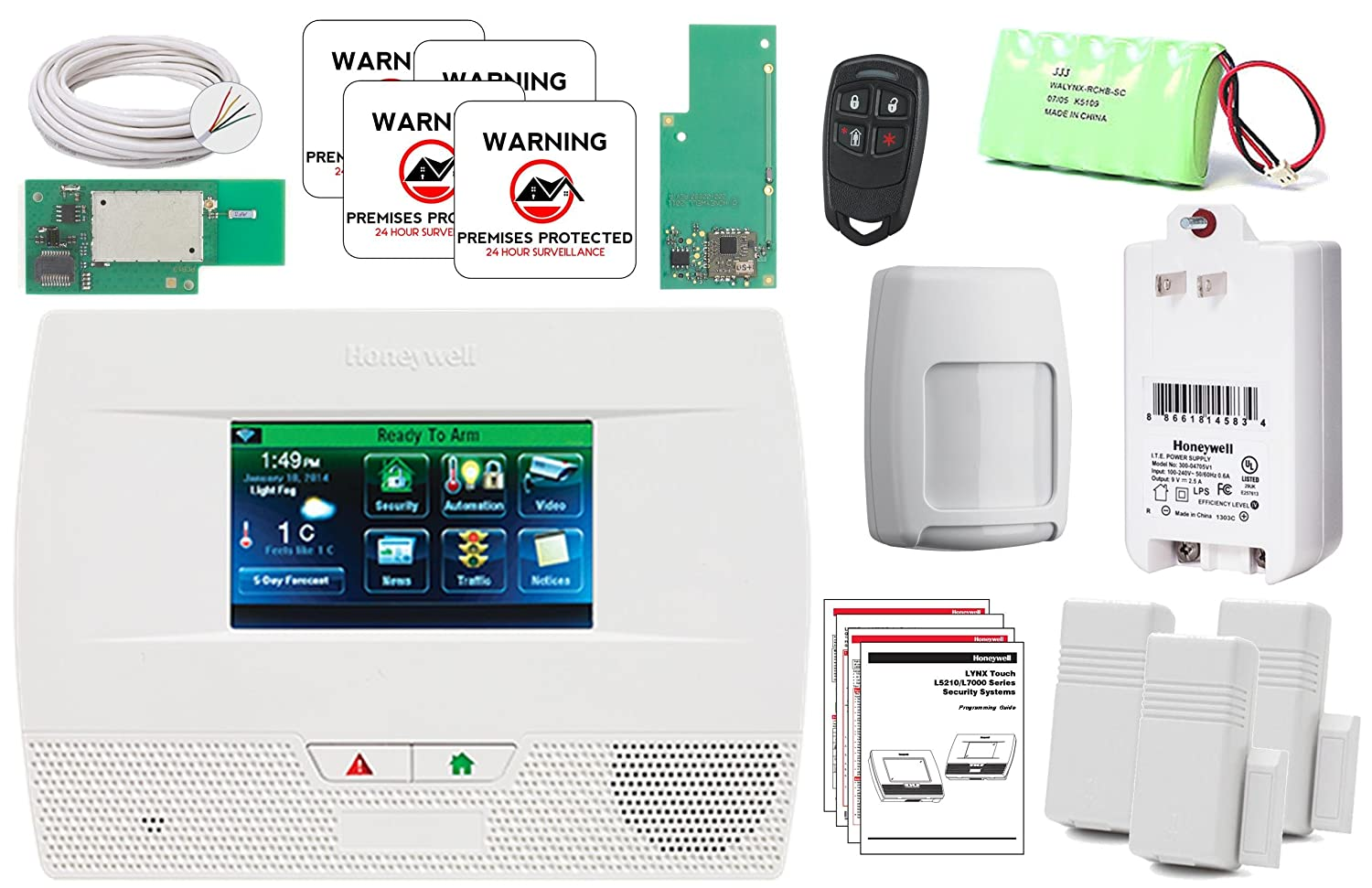 Honeywell Wireless Lynx Touch L5210 home automation and security Alarm Wifi/Zwave Kit