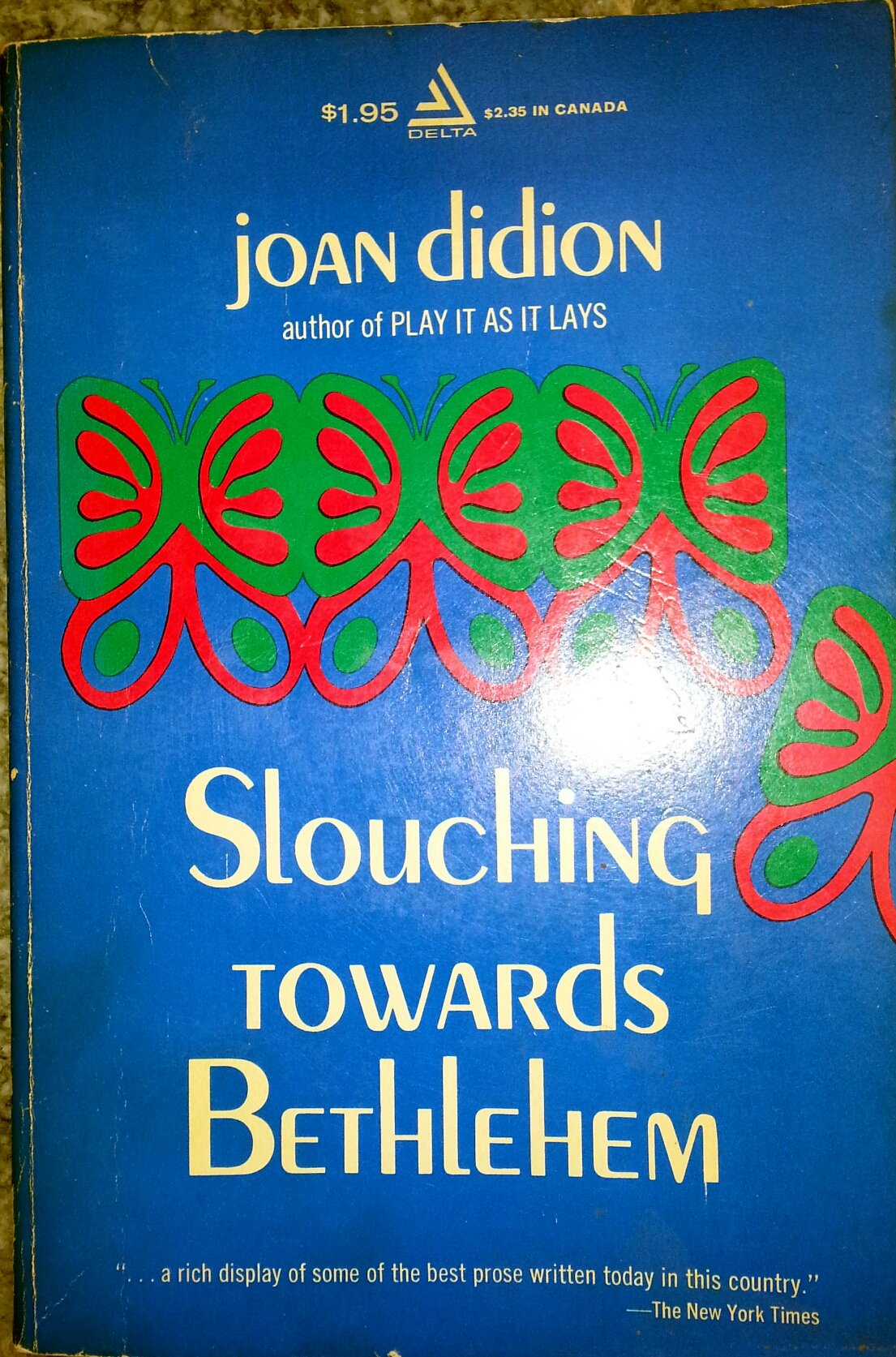 slouching toward bethlehem joan didion com books