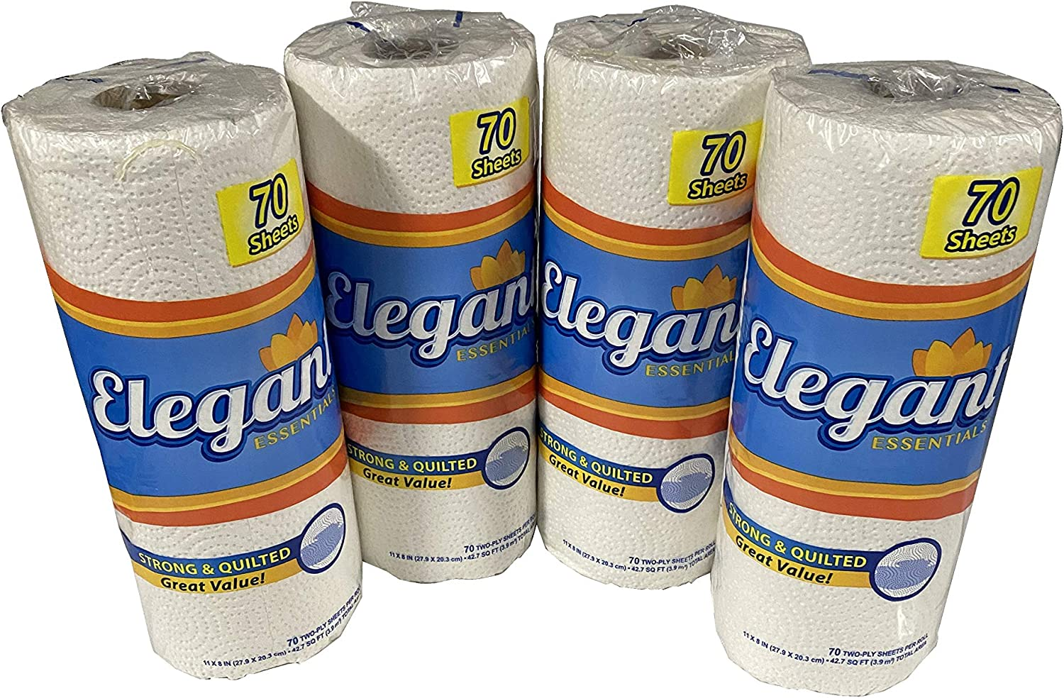70 2-Ply Sheets Strong /& Quilted Premium Toilet Tissue//Premieum Paper Towels 4 Rolls