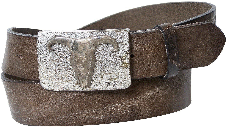 FRONHOFER Belt Western Longhorn buckle eco leather large belt sizes