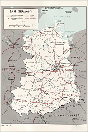 20x30 poster cia map of east germany 1969 p2