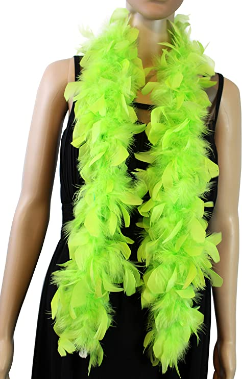 4 Feet Long Chandelle Feather Boa Kelly Green 25 Gram Great for Party weeding
