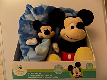 Disney Baby Mickey Mouse 3 Piece Blanket and Push Set Age 0+