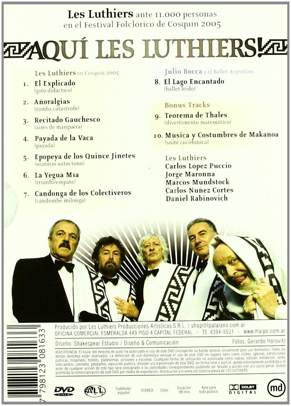 Aquí Les Luthiers! En Cosquin (2005) [DVD]: Amazon.es: Carlos ...