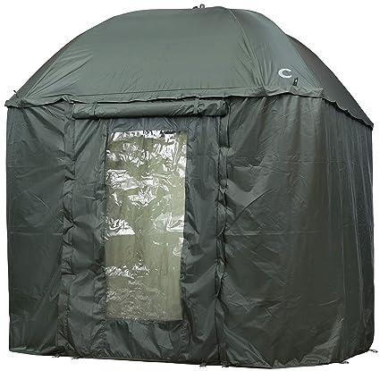 Shelter aus Nylon doppelbeschichtet VTK Fishing Superior Angler Schirmzelt 250 mit T/ÜR /…