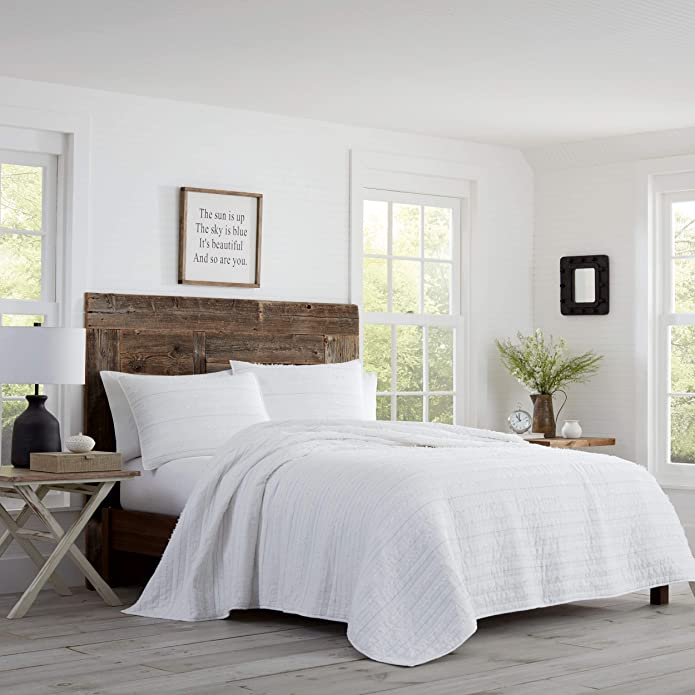 Full/Queen Foster Quilt Set White - Stone Cottage