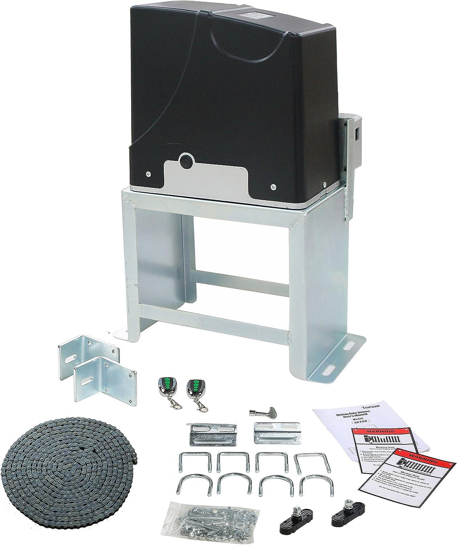 TOPENS DKC1000 Abridor de puerta corredera de cadena automática para portón deslizante de hasta 1 kg y 1 m, compatible con energía solar.: Amazon.es: Bricolaje y herramientas
