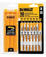DEWALT DW3744C DEWALT 10-piece Jig Saw Blade Set with case (U shank)