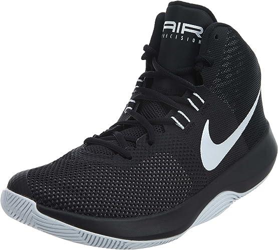 Nike Mens Air Precision BlackWhiteCool Grey Basketball Shoe (11)