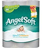 Angel Soft Double Roll Toilet Paper, 12 Rolls, Equivalent to 24 Regular (121-Sheet) Rolls