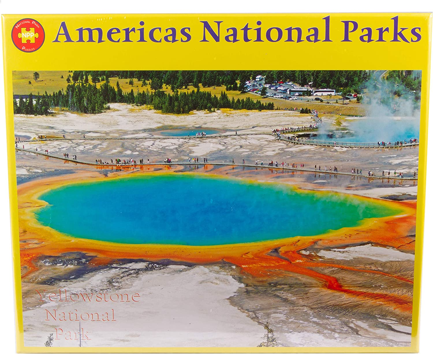 Yellowstone National Park Grand Prismatic Hot Spring 1000 Piece Puzzle