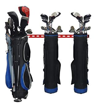 Gearhooks - Sistema de almacenamiento de golf, bolsa de almacenamiento para 2, 3, 4 o 5 bolsas, sistema de almacenamiento de garaje de golf, perfecto ...
