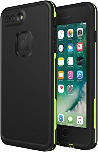 Lifeproof FRĒ SERIES Waterproof Case for iPhone 8 Plus & 7 Plus (ONLY) - Retail Packaging - NIGHT LITE (BLACK/LIME)
