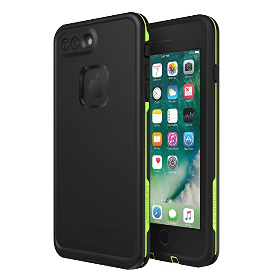 size 40 97197 fbcde Lifeproof FRĒ SERIES Waterproof Case for iPhone 8 Plus & 7 Plus (ONLY) -  Retail Packaging - NIGHT LITE (BLACK/LIME)
