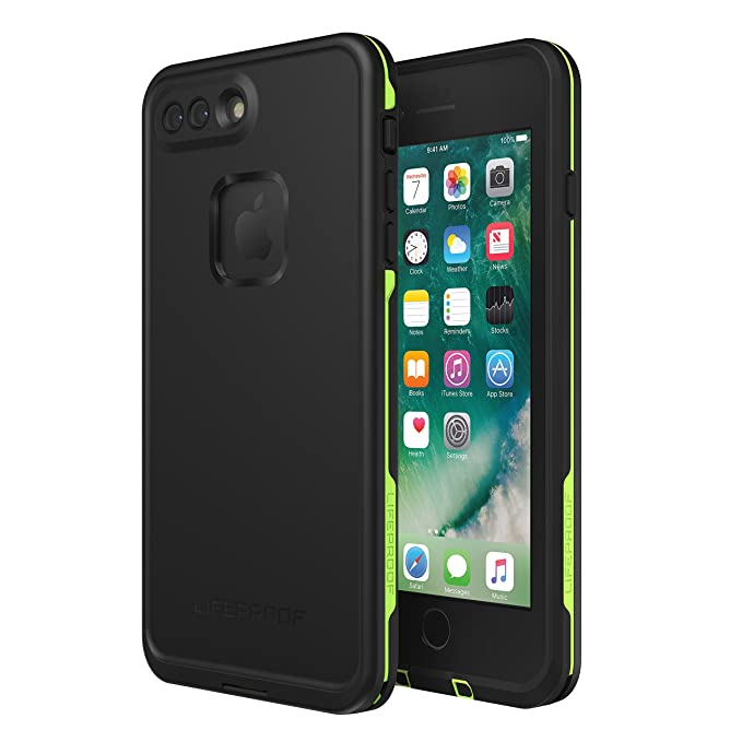size 40 648ae afb5f Lifeproof FRĒ SERIES Waterproof Case for iPhone 8 Plus & 7 Plus (ONLY) -  Retail Packaging - NIGHT LITE (BLACK/LIME)