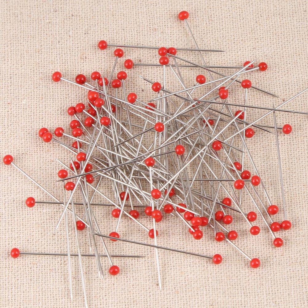 Stecknadeln 1000 st/ück 800//1000 St/ück Stecknadeln Glaskugelkopf N/ähen Pins f/ür DIY Hochzeit Blume Ball Dekoration
