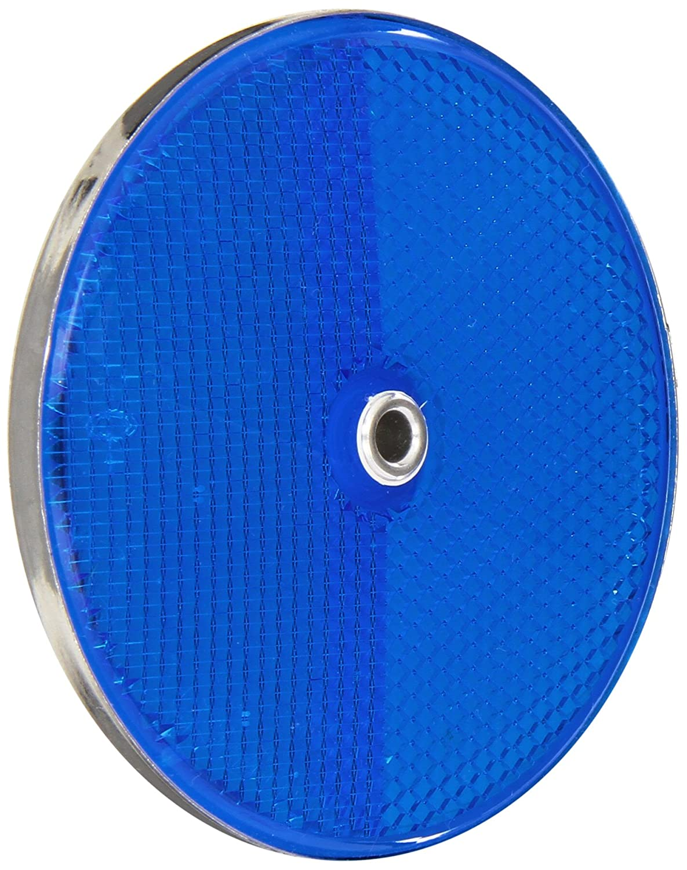 3-1//4 Diameter x 3//8 Thick Blue Tapco RT-90 Aluminum Centermount Reflector with Aluminum Grommet