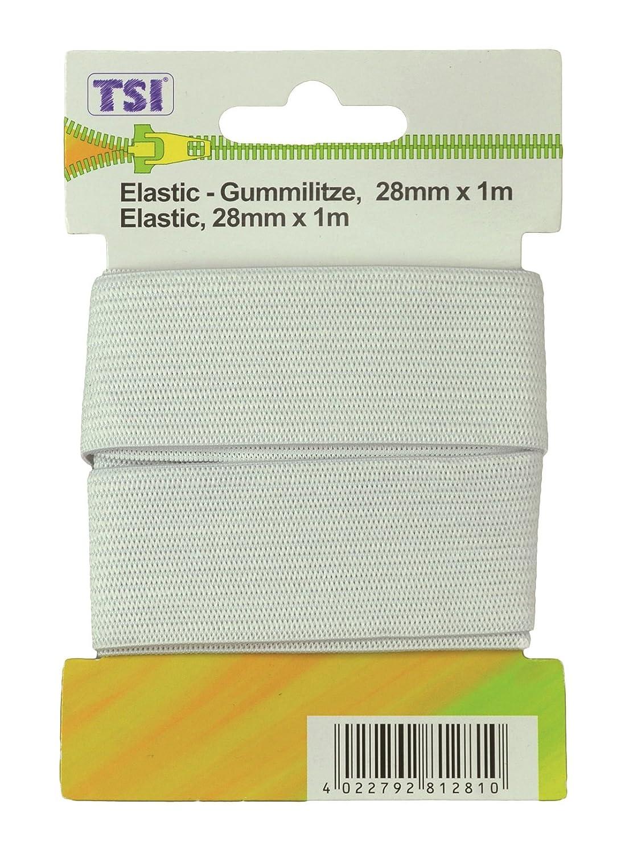 TSI Goma Litz 100 x 0.2 x 0.1 cm Elastano Negro y Blanco