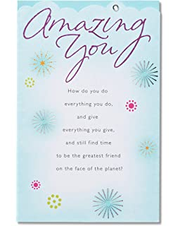 Amazon american greetings bird birthday card for a friend american greetings amazing you birthday card with glitter m4hsunfo