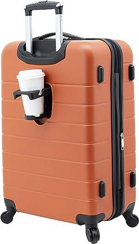 Wrangler Smart Hardside with USB Charging Port, Burnt Orange, 28 Inch Check-In