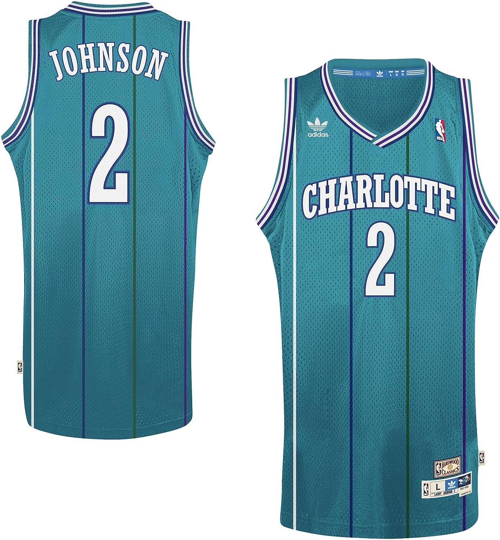 adidas Larry Johnson Charlotte Hornets #2 Teal Youth Hardwood Classic Swingman Jersey