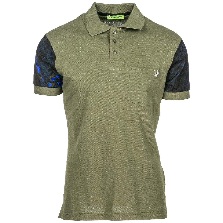 Versace Jeans Polo Hombre Verde 48 EU: Amazon.es: Ropa y accesorios