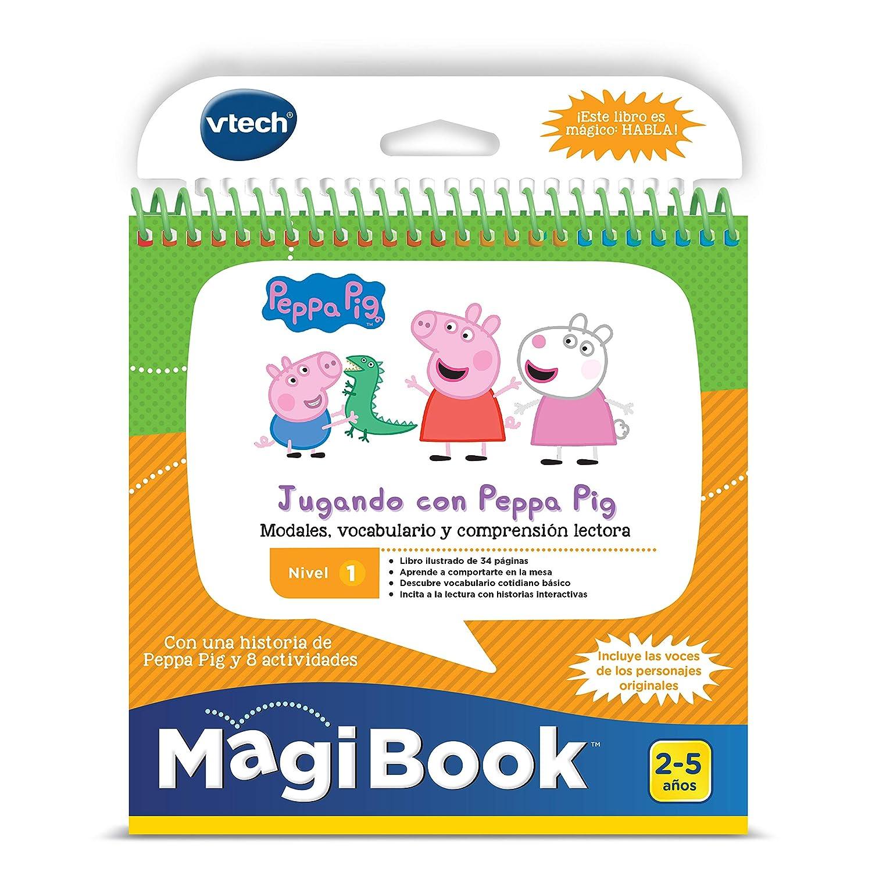 VTech - Libro Jugando con Peppa Pig, comprensión lectora para MagiBook (80-480422): Amazon.es: Juguetes y juegos