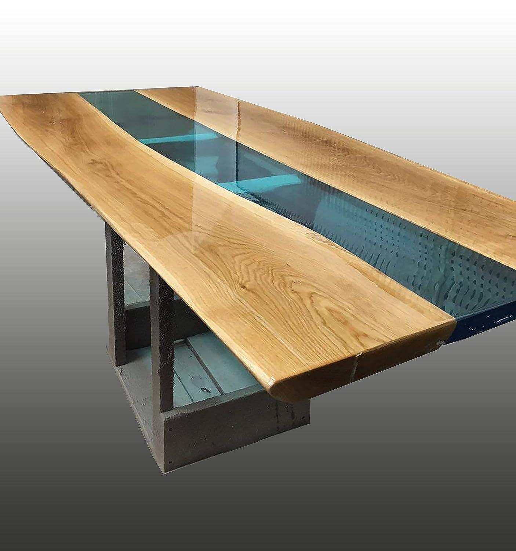 Table De Salle A Manger En Bois Et Resine Epoxy Non Toxique Design