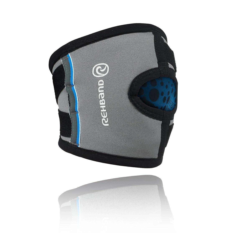 Rehband 7759 - Rodillera con estabilizador del tendón rotuliano, color gris Kniebandage