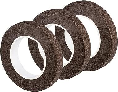 eBoot 3 Pack Floral Tape Stem Wrap 1/2 Inch x 30 Yards (Dark Brown)