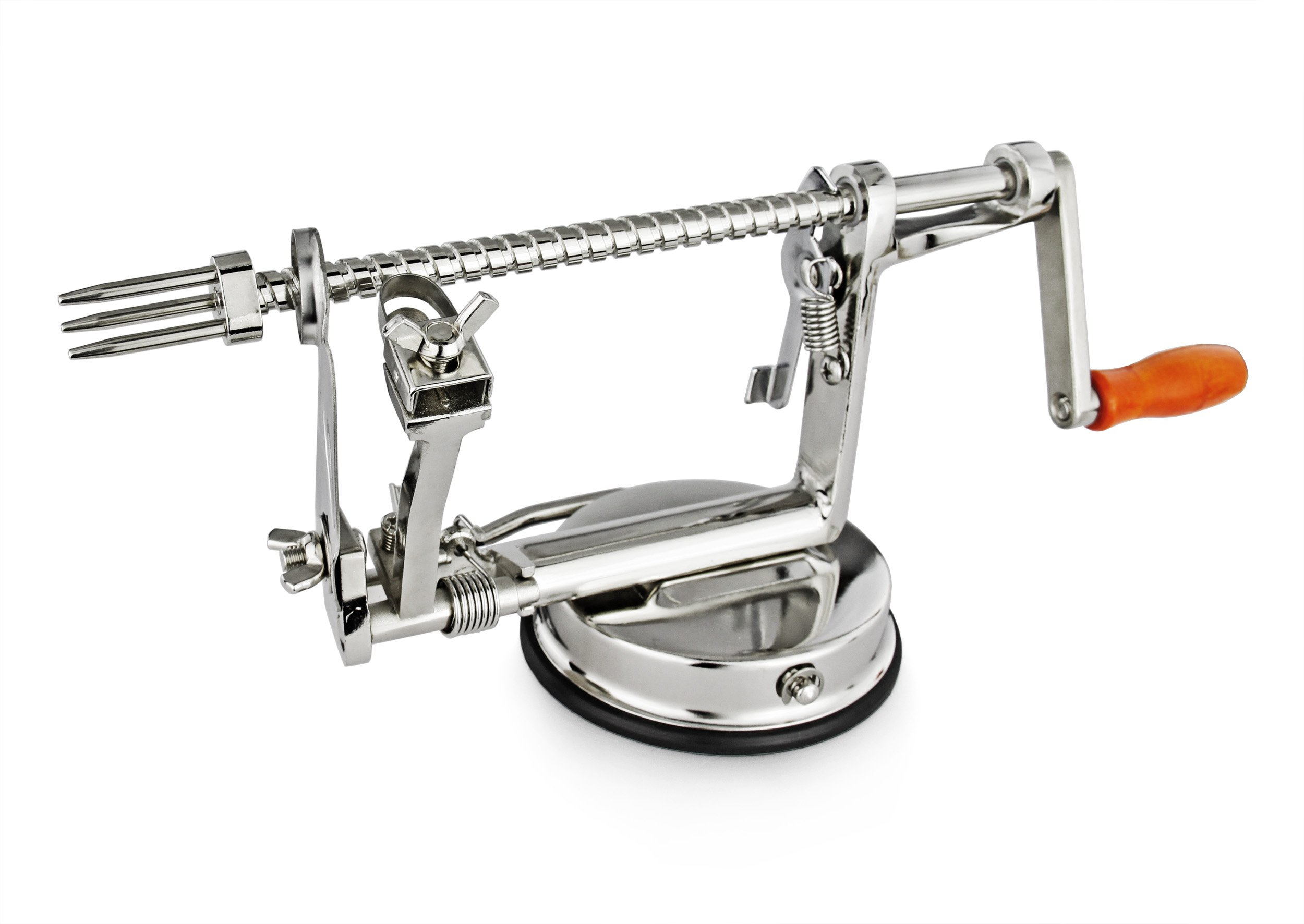 New Star Foodservice 42658 Deluxe Apple Peeler, Chrome Plated
