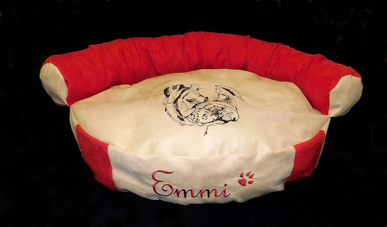 LunaChild Hunde Sofa Hundebett Lounge Hundelounge Englische Bulldogge 1 Name Snuggle Bag Größe S M oder L in 14 Farben erhältlich