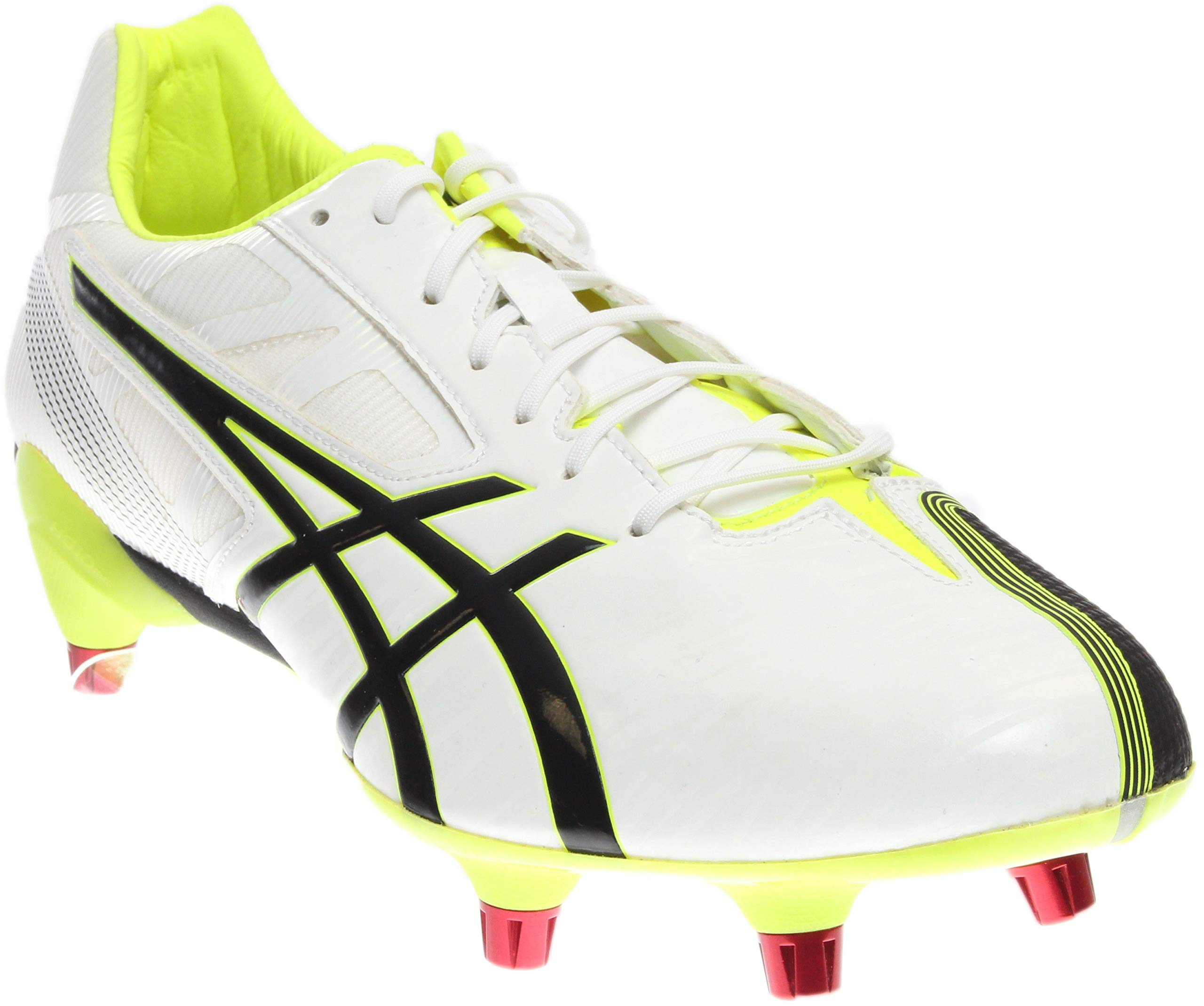 ASICS Men's GEL-Lethal Speed White/Black/Flash Yellow Rugby Shoe - 7 D(M) US by ASICS