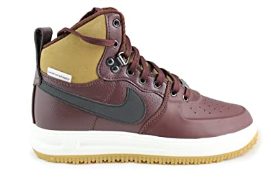 a79ac2a7e06a ... discount nike lunar force 1 sneakerboot boots gs barkroot brown black  size 5.0 youth 65dba 9a036