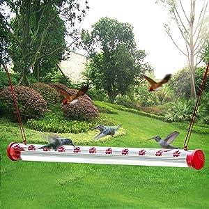 Nature's Best Hummingbird Feeder | Outdoors | Birdfeeder Tube | Patio Decor | Horizontal