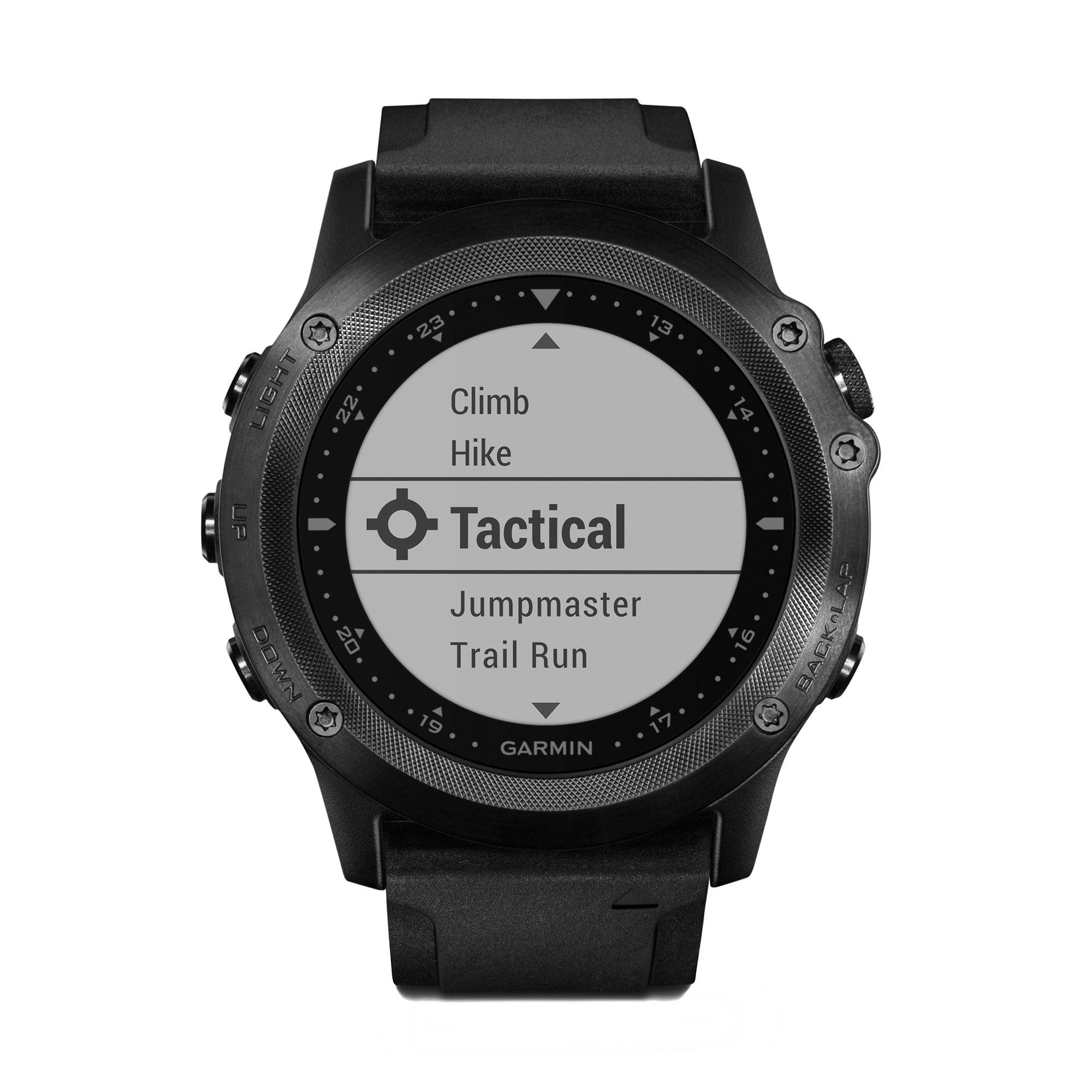 Garmin Tactix Bravo GPS Black With Silicone Strap, One Size